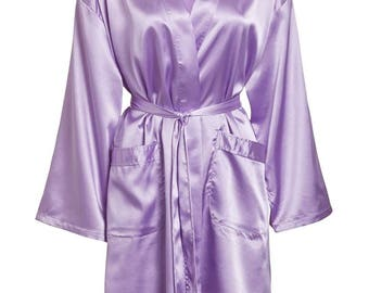 Set of 7 - Satin Robes for Bridal Party - Bridesmaid Robes Set - Satin Robes for Women - Bride Robe - Maid of Honor Satin Robe - Satin Robes