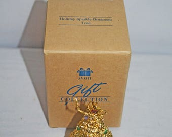 One Holiday Sparkle Ornament Tree 1996 NIB - Four Available