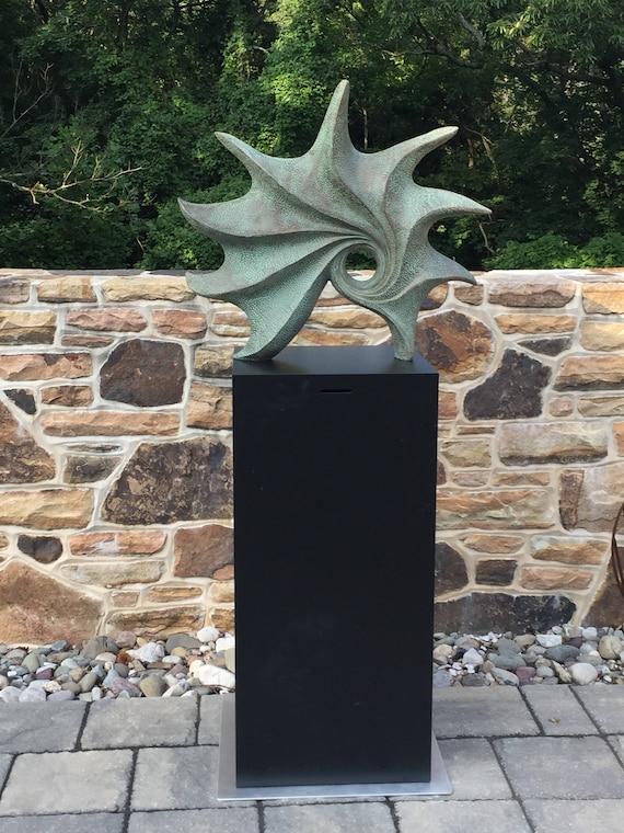 Ocean sculpture, bronze sculpture, contemporary sculpture, garden sculpture, abstract, modern, indoor sculpture, Kara Sanches