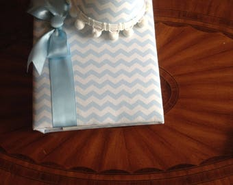 NEW OFFERING!  Blue Chevron Photo Album with Matching Decorative Nightlight!  Photo Album Holds 240 4x6 Photos