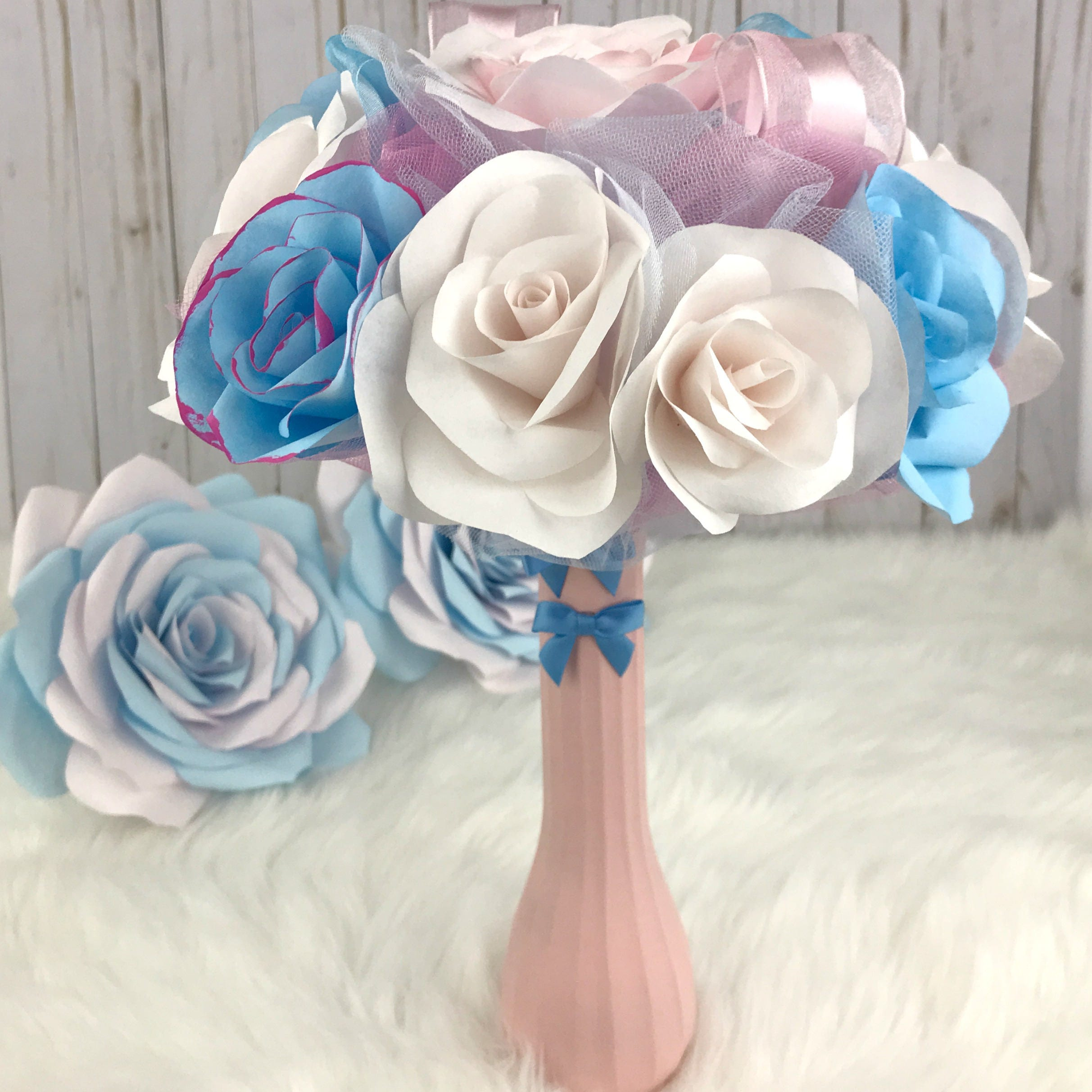 Gender Reveal Decorations Pink And Blue Decor Baby Shower Decor