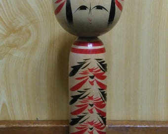 Kokeshi doll, Japanese traditional vintage wooden doll