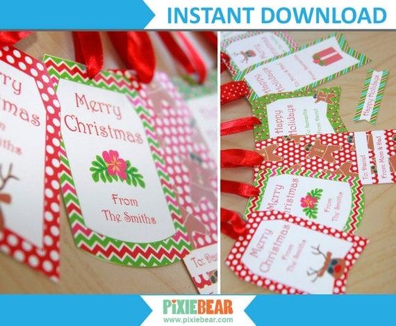 Christmas Name Tags: Personalized Christmas Gift Tags