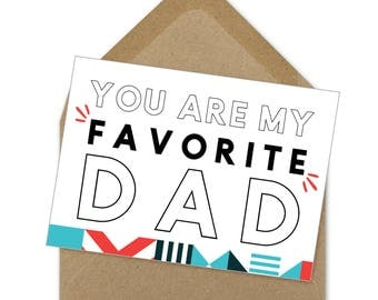 favorite dad father's day card | A6