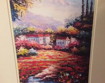 Very Vibrant Original Painting Signed By Artist
