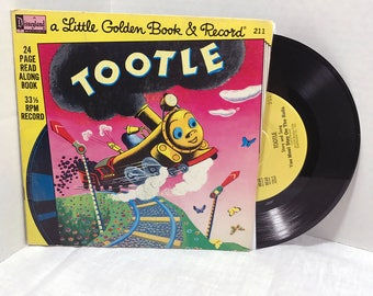 Tootle vinyl record and book 1976 Disneyland Records Kids Children Storybook VG