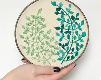 Stitch Art: Embroidery Fern