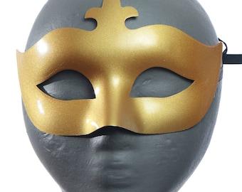 Gabrielle Fleur de Lis Eye Mask - Gold Masquerade Mask