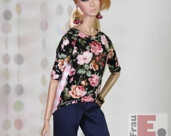 "Fashion Doll Outfit ""Roses and Stripes"" #3"