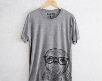Sidney the Sloth - Tri-Blend Unisex Crew Grey