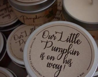 pumpkin baby shower favors for guests / pumpkin /  maple  leaf / apple cider / fall theme party favors / fall baby shower / babyshower