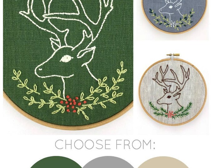 Stag Embroidery Kit