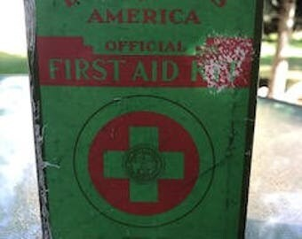 1940's Boy Scouts of America Official First Aid Kit