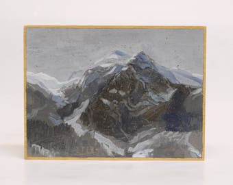 The Alps.  Painting by Juanma Pérez. Oil on plywood.