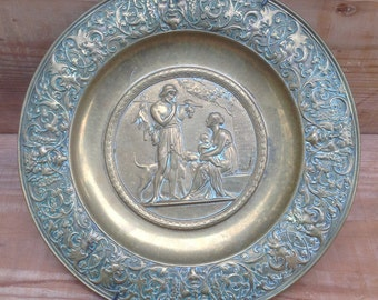 Bronze decorative plate