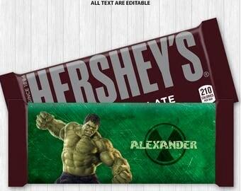 Hulk Chocolate Bar Wrapper