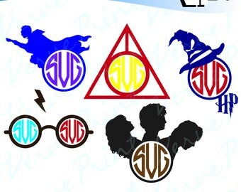 Harry Potter inspired Frames Svg, Harry Potter Svg, Ai, Eps, Pdf, Png, Dxf Cutting file, Silhouette Clip Art svg Commercial use