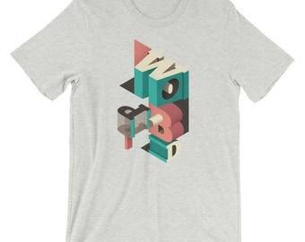Isometric Block Letters T-Shirt