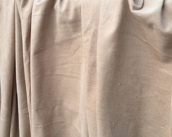 Tan pinwale corduroy vintage fabric