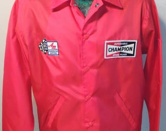 1960s Swingster 1968  American Motors Racing Jacket, Mens XL,Has Cool Old Champion Spark Plug Patch, Deadstock, Gearhead, Kustom Kulture!!!