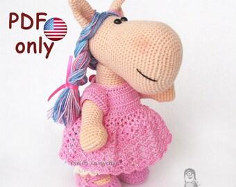 Crochet pattern - Bella the Horse amigurumi animal (English)