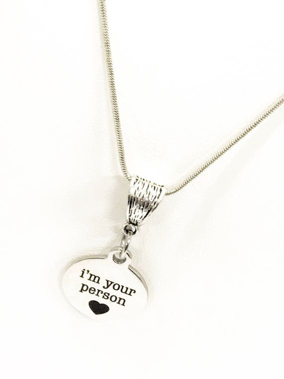 Wife Necklace, I'm Your Person Necklace, I'm Your Person Gifts, Girlfriend Gifts, Wife Gifts, Wife Valentine, Girlfriend Valentine Day Gift