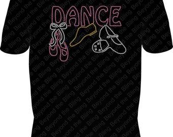 dance bling shirt ballet shirt tap jazz ballet dance shirt ballet bling shirt rhinestone dance shirt ballet jazz tap bling shirt dance shirt