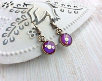 Pocket Watch Earrings. Hot Pink Earrings. Small Drop Earrings. Watch Part Earrings. Bronze Earrings. Clock Earrings. Watch Earrings.