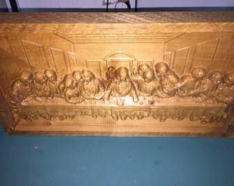 Carved 3d Last Supper - Unfinished Version