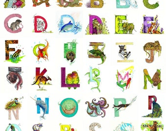Alphabet Name Prints (Letters, Names, Bespoke, Personalised)