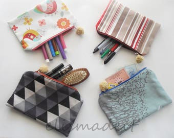 Handmade cotton pouch