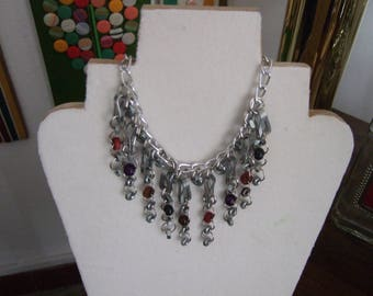 Necklace of industrial chains