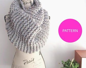 KNITTING PATTERN The Pinterest Goals Scarf, extra large scarf pattern, beginner knit, knitting pattern, beginner knit pattern, simple garter