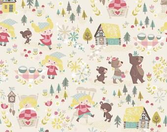Goldilocks and The Three Bears - Fat Quarter - Fairy Tale Fabric