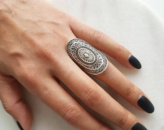 Ottoman ring//Silver plated ring/Turkish jewelry//BohoRing//Gypsy//Weihnachtsgeschenk/For her/tribal