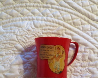 Vintage Red Howdy Doody Cup Circa 1950's