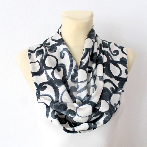 Geometric Infinity Scarf Unique Fashion Scarf Infinity Scarves Gift for Her Gift Womens Autumn Spring Fall Summer Outdoors Summer Party