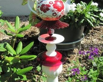 Teapot Garden Totem, Garder Decoration, Garden Ornaments, Outdoor Decor,  Yard Art,