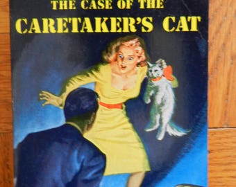 Vintage 40's The Case Of The Caretaker's Cat by Erle Stanley Gardner A Perry Mason Mystery Paperback Book 1948