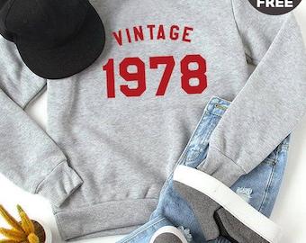 Vintage Sweatshirt 31st birthday gift sweatshirt hipster graphic birthday shirt 1987 sweater pullover sweatshirt women gifts men sweatshirt