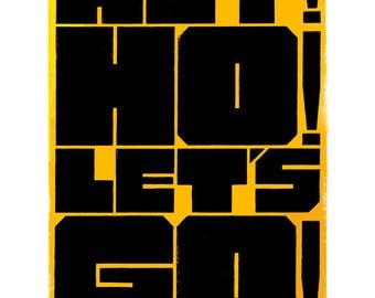 Hey! Ho! Let's Go! (Blitzkrieg Bop) 40 x 50cm giclee print