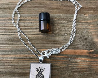 Pineapple Essential Oil Diffuser Necklace