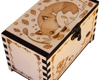 Wood box Fox