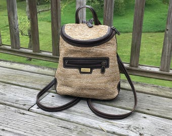 90s Small Backpack Brown
