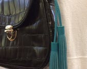 CUSTOM Double-Ended Leather Bag Tassel, Leather Bag Accessory