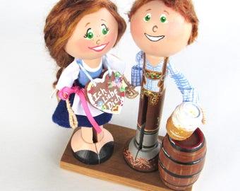 Oktoberfest Cake Topper - Oktoberfest Decoration - German Wedding Cake Topper - German Decor - Oktoberfest Party centerpiece - German Couple