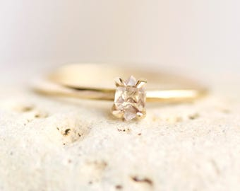 Gold Herkimer Diamond Ring. Herkimer Ring. Herkimer Diamond Ring. Herkimer Diamond Engagement Ring. Gold Herkimer Ring