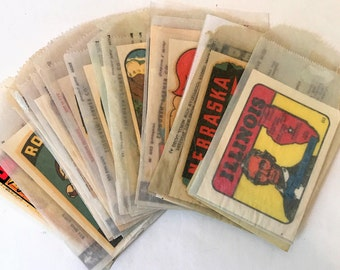 23 Vintage State and Attraction Decals
