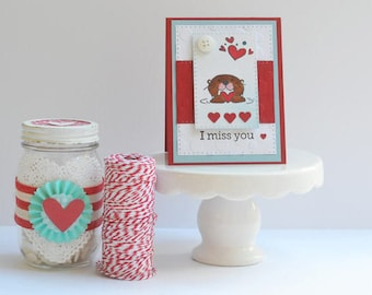 I Miss You Card -  Miss You -  Miss You Card -  Handmade Card -  Miss You Gift -  Handmade -  Miss Your Face -  Greeting Card