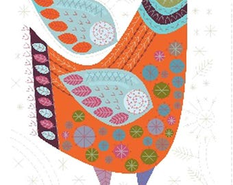 Embroidery kit by Nancy Nicholson - Bird -